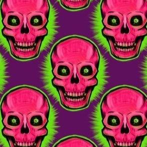 Original Vintage Skull (on purple)