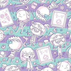 Princess Awesome Purple Doodles