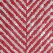 painted herringbone cranberry