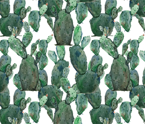 cactus-time fabric by aubreythestrawberry on Spoonflower - custom fabric