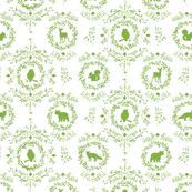 Woodland Silhouette Grass
