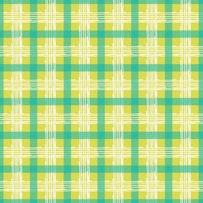Jolly Green Jellyfish Collection - Plaid