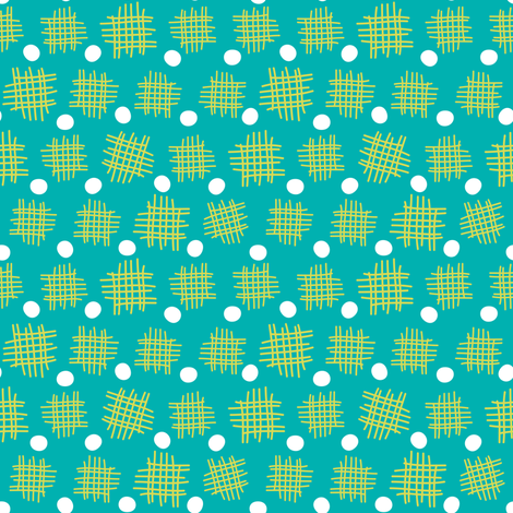 Jolly Green Jellyfish Collection - Dot fabric by hollybender on Spoonflower - custom fabric