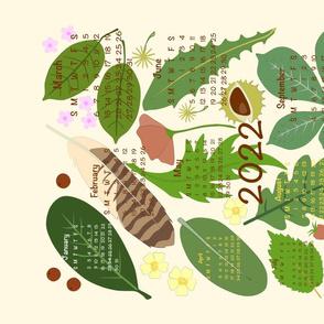 Nature Table 2022 Calendar Tea Towel