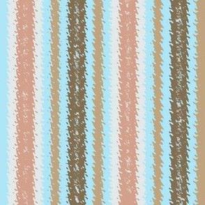 JP18 - Sky Blue and Peachy Mauve Jagged Stripes