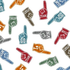Sports Fan Foam Finger - Baseball, Football, Basketball, Soccer.