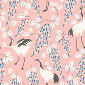 Cranes Pink_Japanese Garden_The Tiny garden