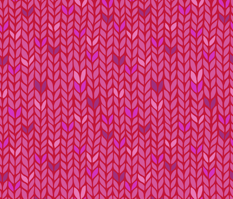 pink knit pattern with dots fabric by klivenkova on Spoonflower - custom fabric