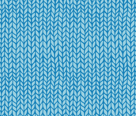 blue knitting pattern fabric by klivenkova on Spoonflower - custom fabric