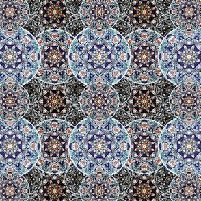Bohemian Circle Mandalas Tile.