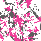 Urban Pink Camouflage with hand-drawn brush spots for Feminine Fashion Brutal Uniform, Hunting