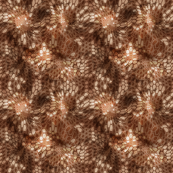 Hexagonal 3d Realistic Camouflage in Brown Colors