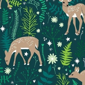 Deer in Emerald Forest