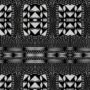 Native American Pottery Black and White