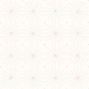 Nineteen Sixty Starburst: Rose Gold Geometric Pattern