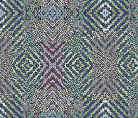 herringbone collage 3 mirrored fabric by farreystudio on Spoonflower - custom fabric