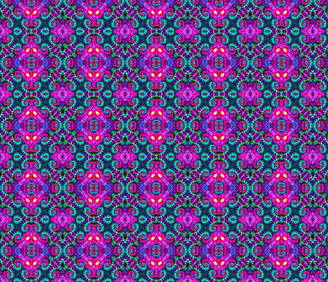 Pink & Teal Curly Medallions fabric by just_meewowy_design on Spoonflower - custom fabric