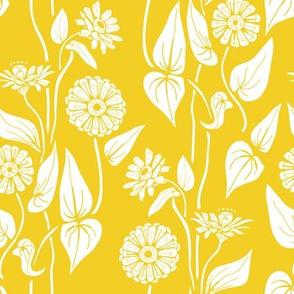 Zinnia Garden, Yellow