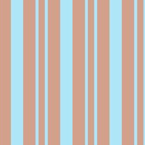 JP18 Sky Blue and Rosy Peach Rhythmic Stripes
