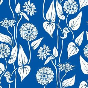 Zinnia Garden, Blue