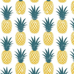 pineapples - golden and teal