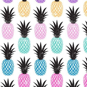 multi colored pineapples