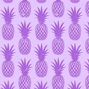 pineapples - purple on purple