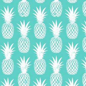 pineapples on teal