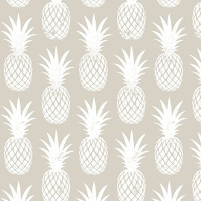 pineapples on beige