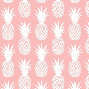 pineapples on dark pink