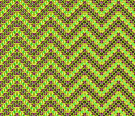 Golden Curly Zigzag Hearts fabric by just_meewowy_design on Spoonflower - custom fabric