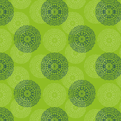 Green MANDALA BLOCKPRINT