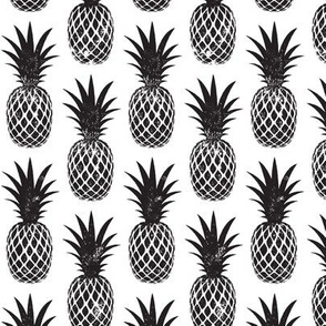 pineapples in black