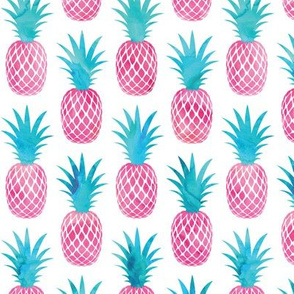 pineapples - watercolor pink