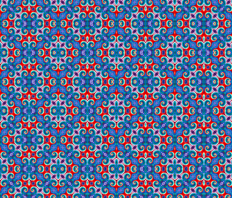Patriotic Curly Diamonds fabric by just_meewowy_design on Spoonflower - custom fabric