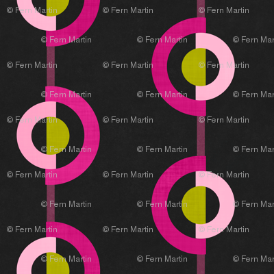 Circles Twist in Pink & Lime
