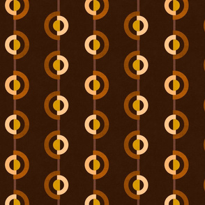 Circles Twist in Brown & Mustard