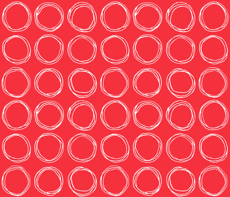 Circles (red) fabric by kate_rowley on Spoonflower - custom fabric