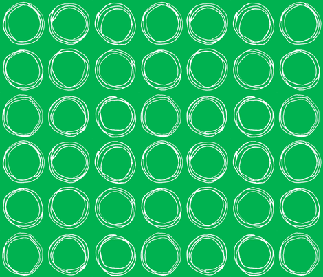 Circles (green) fabric by kate_rowley on Spoonflower - custom fabric