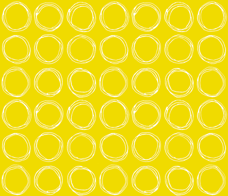 Circles (mustard) fabric by kate_rowley on Spoonflower - custom fabric
