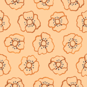 Brown floral 2