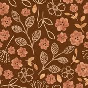Brown floral 1