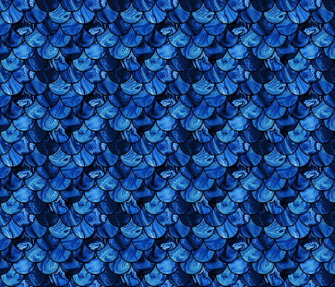 navy scales fabric by krinichnaya on Spoonflower - custom fabric