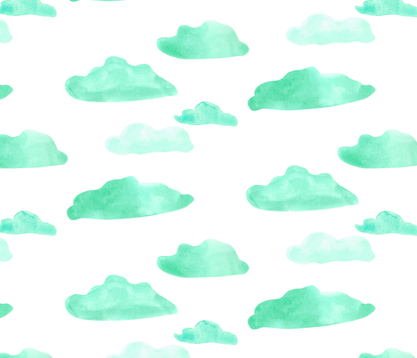 clouds-01 fabric by stargazingseamstress on Spoonflower - custom fabric