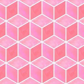 pink 3d cubes