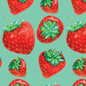 strawberries-on mint-01