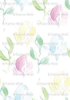 watercolor crocus