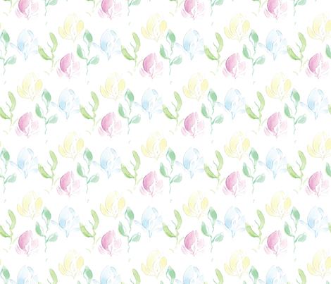watercolor crocus fabric by anines_atelier on Spoonflower - custom fabric