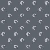 wolf, moon, baby boy, dots, circle, moonlight, scary, night, shadow, greys, grey, charcoal, gray