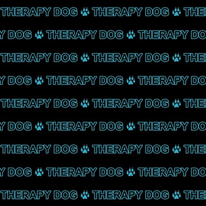 Basic Therapy dog text - turquoise